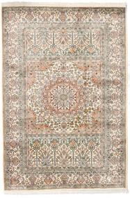 Cachemire Pure Soie Tapis 127X186 D'orient Fait Main Gris Clair/Beige (Soie, Inde)
