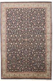 Cachemire Pure Soie Tapis 211X319 D'orient Fait Main Gris Clair/Noir (Soie, Inde)