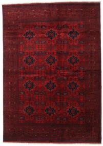 Afghan Khal Mohammadi Tapis 205X289 D'orient Fait Main Rouge Foncé/Rouge (Laine, Afghanistan)