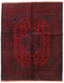 Afghan Khal Mohammadi Tapis 155X194 D'orient Fait Main Rouge Foncé/Rouge (Laine, Afghanistan)