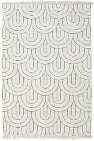 Vanya - Sand/Noir Tapis 140X200 Moderne Fait Main Gris Clair/Beige ( Inde)