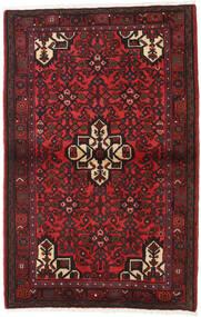 Hamadan Tapis 103X162 D'orient Fait Main Rouge Foncé/Noir (Laine, Perse/Iran)
