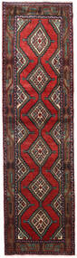 Hamadan Tapis 84X305 D'orient Fait Main Tapis Couloir Rouge Foncé/Noir (Laine, Perse/Iran)