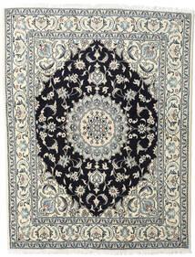 Naïn Tapis 200X245 D'orient Fait Main Beige/Bleu Foncé (Laine, Perse/Iran)
