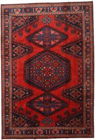 Wiss Tapis 214X313 D'orient Fait Main Rouge Foncé/Rouille/Rouge (Laine, Perse/Iran)