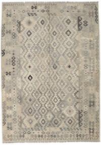 Kilim Afghan Old Style Tapis 209X293 D'orient Tissé À La Main Gris Clair/Beige Foncé (Laine, Afghanistan)