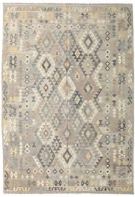 Kilim Afghan Old Style Tapis 205X295 D'orient Tissé À La Main Gris Clair/Beige Foncé (Laine, Afghanistan)