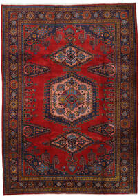 Wiss Tapis 212X310 D'orient Fait Main Rouge Foncé/Marron Foncé/Rouille/Rouge (Laine, Perse/Iran)