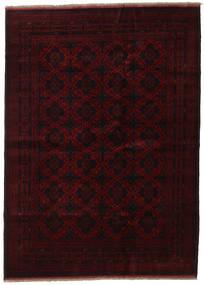 Afghan Khal Mohammadi Tapis 205X282 D'orient Fait Main Marron Foncé/Rouge Foncé (Laine, Afghanistan)