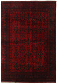 Afghan Khal Mohammadi Tapis 198X290 D'orient Fait Main Marron Foncé/Rouge (Laine, Afghanistan)
