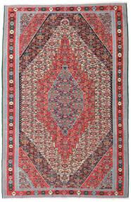 Kilim Senneh Tapis 169X257 D'orient Tissé À La Main Gris Clair/Marron (Laine, Perse/Iran)