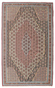 Kilim Senneh Tapis 148X237 D'orient Tissé À La Main Gris Clair/Marron Clair (Laine, Perse/Iran)