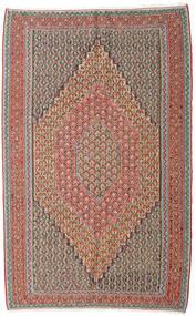 Kilim Senneh Tapis 152X245 D'orient Tissé À La Main Gris Clair/Rouge Foncé (Laine, Perse/Iran)