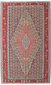 Kilim Senneh Tapis 150X248 D'orient Tissé À La Main Gris Clair/Marron Foncé (Laine, Perse/Iran)