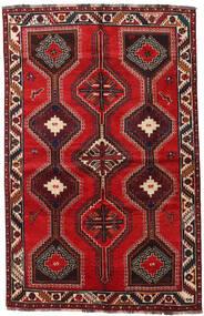 Shiraz Tapis 155X241 D'orient Fait Main Rouge Foncé/Rouille/Rouge (Laine, Perse/Iran)