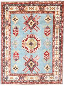 Kazak Tapis 152X206 D'orient Fait Main Beige/Bleu Clair (Laine, Afghanistan)
