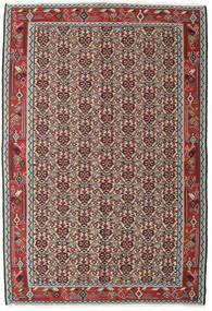 Kilim Senneh Tapis 130X194 D'orient Tissé À La Main Gris Clair/Rouge Foncé (Laine, Perse/Iran)