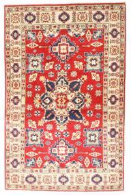 Kazak Tapis 94X147 D'orient Fait Main Rose Clair/Rouille/Rouge (Laine, Afghanistan)