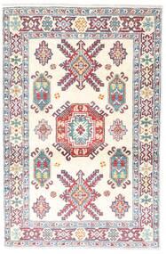 Kazak Tapis 95X146 D'orient Fait Main Beige/Gris Clair (Laine, Afghanistan)