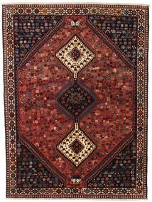 Yalameh Tapis 155X201 D'orient Fait Main Rouge Foncé/Noir (Laine, Perse/Iran)