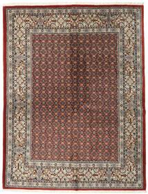 Moud Tapis 151X198 D'orient Fait Main Gris Clair/Rouge Foncé (Laine/Soie, Perse/Iran)