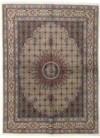 Moud Tapis 152X206 D'orient Fait Main Gris Clair/Marron Foncé (Laine/Soie, Perse/Iran)