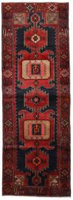 Hamadan Tapis 104X295 D'orient Fait Main Tapis Couloir Rouge Foncé (Laine, Perse/Iran)