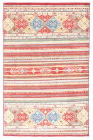 Kazak Tapis 98X155 D'orient Fait Main Rose Clair/Beige (Laine, Afghanistan)