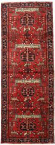 Hamadan Tapis 105X284 D'orient Fait Main Tapis Couloir Rouge Foncé/Rouille/Rouge (Laine, Perse/Iran)