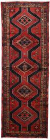 Hamadan Tapis 100X290 D'orient Fait Main Tapis Couloir Rouge Foncé/Noir (Laine, Perse/Iran)