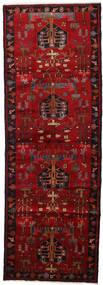 Hamadan Tapis 108X310 D'orient Fait Main Tapis Couloir Marron Foncé/Rouge Foncé/Rouge (Laine, Perse/Iran)
