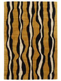 Tigre - Doré/Beige Tapis 160X230 Moderne Noir/Marron (Laine, Inde)