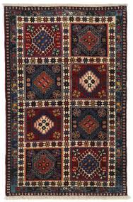 Yalameh Tapis 78X122 D'orient Fait Main Rouge Foncé/Gris Foncé (Laine, Perse/Iran)
