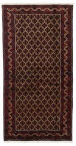 Baloutche Tapis 96X188 D'orient Fait Main Rouge Foncé/Marron Foncé (Laine, Perse/Iran)