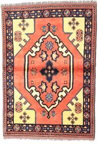 Kazak Tapis 97X135 D'orient Fait Main Violet Foncé/Rose Clair (Laine, Pakistan)