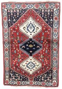 Yalameh Tapis 99X144 D'orient Fait Main Gris Foncé/Gris Clair (Laine, Perse/Iran)