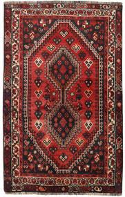Shiraz Tapis 118X190 D'orient Fait Main Rouge Foncé/Noir (Laine, Perse/Iran)