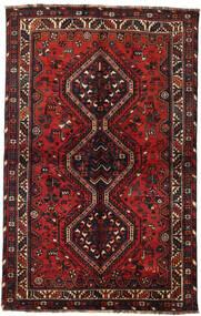 Shiraz Tapis 145X228 D'orient Fait Main Rouge Foncé/Noir (Laine, Perse/Iran)