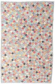 Kilim Afghan Old Style Tapis 127X194 D'orient Tissé À La Main Gris Clair/Rose Clair (Laine, Afghanistan)