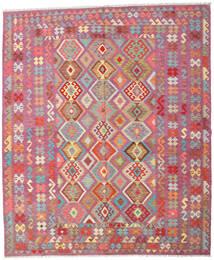 Kilim Afghan Old Style Tapis 247X295 D'orient Tissé À La Main Violet/Rose Clair (Laine, Afghanistan)