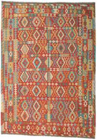 Kilim Afghan Old Style Tapis 251X352 D'orient Tissé À La Main Rouille/Rouge/Beige Foncé Grand (Laine, Afghanistan)