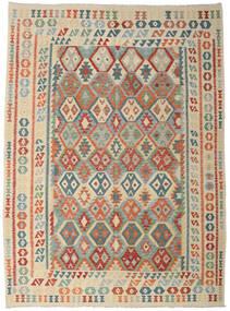 Kilim Afghan Old Style Tapis 256X356 D'orient Tissé À La Main Gris Clair/Beige Grand (Laine, Afghanistan)
