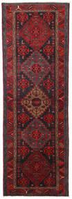 Hamadan Tapis 104X309 D'orient Fait Main Tapis Couloir Rouge Foncé/Noir (Laine, Perse/Iran)