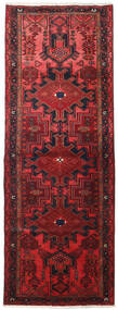 Hamadan Tapis 109X306 D'orient Fait Main Tapis Couloir Rouge Foncé/Rouge (Laine, Perse/Iran)
