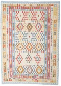 Kilim Afghan Old Style Tapis 208X288 D'orient Tissé À La Main Gris Clair/Blanc/Crème (Laine, Afghanistan)