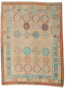 Kilim Afghan Old Style Tapis 254X342 D'orient Tissé À La Main Beige Foncé/Marron Clair Grand (Laine, Afghanistan)
