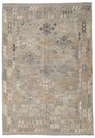Kilim Afghan Old Style Tapis 205X296 D'orient Tissé À La Main Gris Clair (Laine, Afghanistan)
