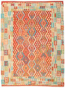 Kilim Afghan Old Style Tapis 255X343 D'orient Tissé À La Main Beige Foncé/Orange Grand (Laine, Afghanistan)