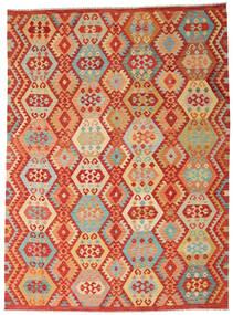 Kilim Afghan Old Style Tapis 252X344 D'orient Tissé À La Main Rouille/Rouge/Beige Foncé Grand (Laine, Afghanistan)