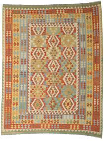 Kilim Afghan Old Style Tapis 254X327 D'orient Tissé À La Main Beige Foncé/Rouge Foncé Grand (Laine, Afghanistan)